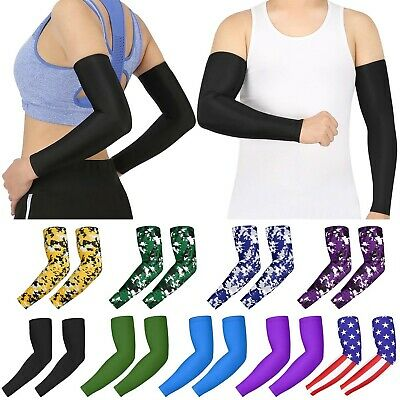 PAIR Compression Sports Arm Sleeves Men Adult Kid Baseball Football Basketball