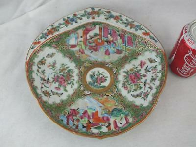 19Th C Chinese Porcelain Canton Famille Rose Scallop Dish