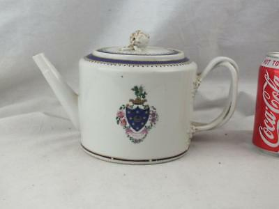 18Th C Chinese Porcelain Armorial Teapot