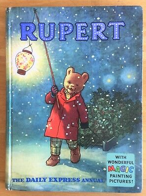 Rupert Annual 1960 Original Not Inscribed Not Price Clipped Magic Paintings Done