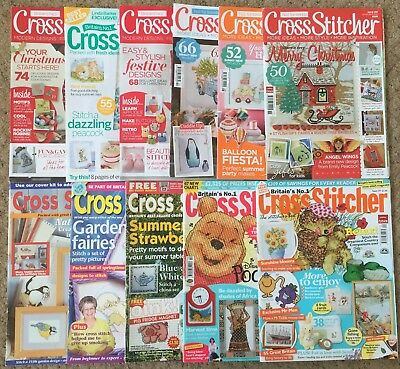 Lot of 14 Cross Stitch Magazines Cross Stitcher & Celebrations