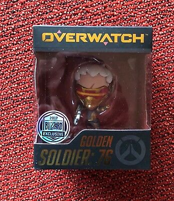 ++ SDCC 2017 Blizzard Exclusive Overwatch Golden Soldier: 76 Cute But Deadly ++