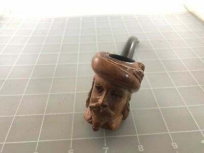 Judd's Very Nice Hand Sculpted Carved French Briar Head Pipe