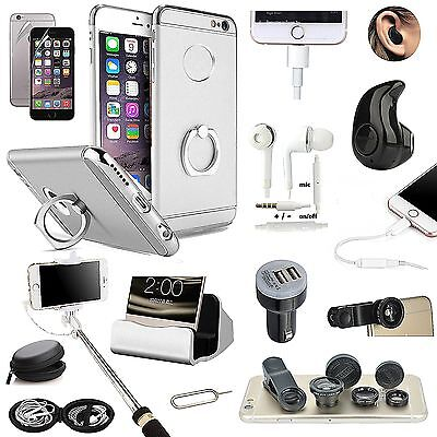 Sliver Ring Holder Case Wireless Headset Fish Eye Monopod Accessory For iPhone 8