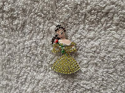 DISNEY BEAUTY & The BEAST MOVIE Inspired Large Charm NECKLACE Princess BELLE