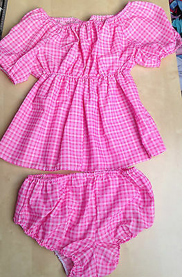 cotton dress+pants  adult baby fancy dress sissy maid cosplay fetish 18-20