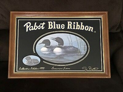 Pabst Beer Common Loon Mirror Hunting Man Cave Bar