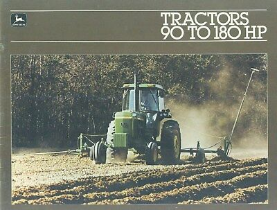 1981 John Deere TRACTORS 90 TO 180 HP Illustrated Dealership Catalog 47 Pages