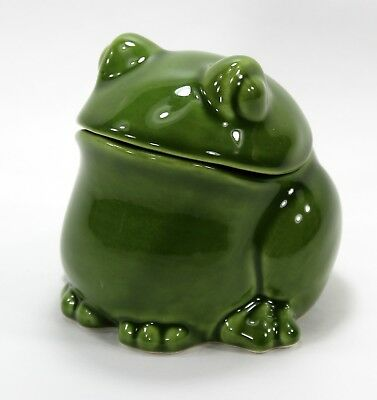 Frog Jar, Sur la Table, Trinket Box, Green, Made in Italy, Fat, Chubby