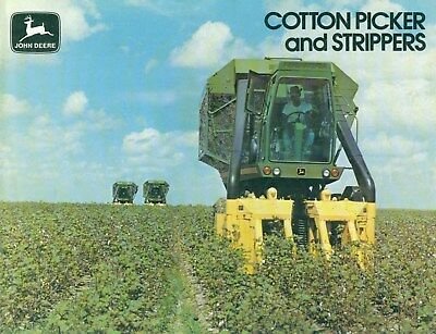 1977 John Deere COTTON PICKER AND STRIPPERS Illustrated Dealership Catalog clean
