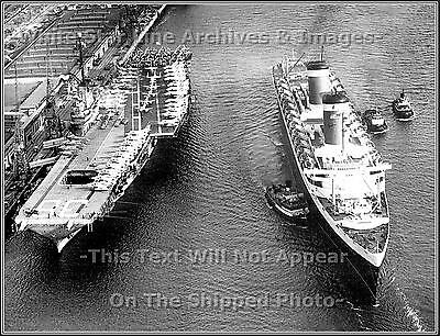 Photo SS United States Passes Aircraft Carrier Antietam
