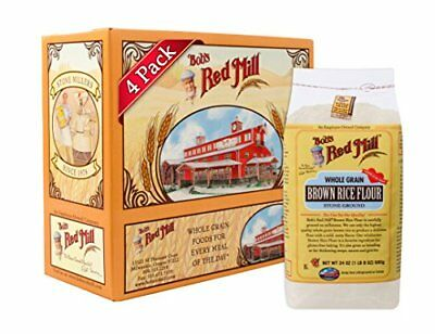 Bob's Red Mill Gluten Free Brown Rice Flour 24-ounce Pack of 4