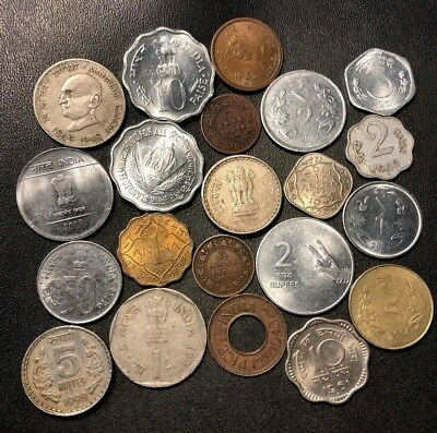 OLD India Coin Lot - 1895-Present - 21 Great Coins - Lot #710