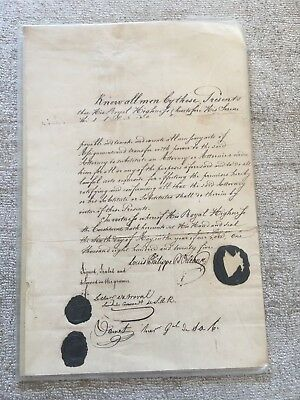 Document Signed by Prince Philippe d'Orléans, Duke of Orléans.