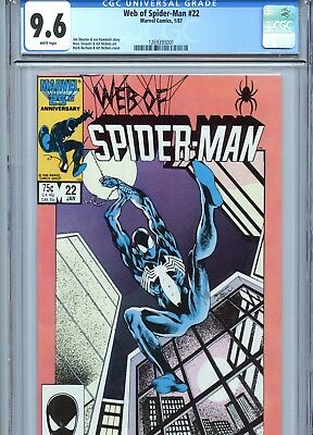 Web of Spider-Man #22 CGC 9.6 White Pages Marvel Comics 1987