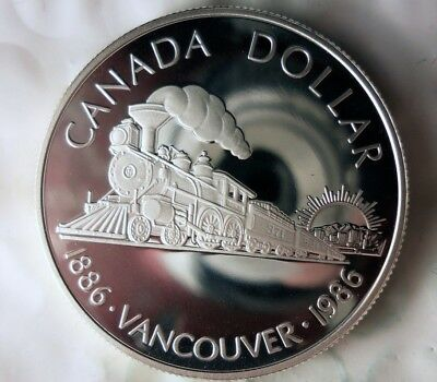 1986 CANADA DOLLAR - AU/UNC - PROOF SILVER Type - Lot #710