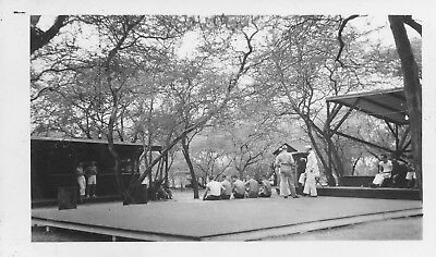 WWII 1940s US Navy Rec Center Camp Andrews Hawaii Photo #3 stage