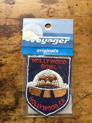 Vintage Embroidered Patch Badge Souvenir Travel Voyager HOllywood Bowl CA MIP