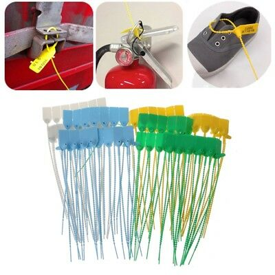100PCS Disposable Cable Ties Pull-Tite Security Seals Self Lock Pull Tight Seals