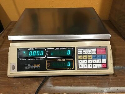 10 LB x 0.002 LB Cas SC-05P Precision Parts Counting Scale coin Stainless Steel