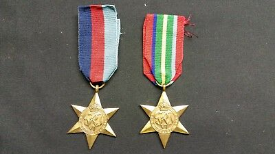 Wwii Pacific Star & 1939-1945 Star - Named A.h.smith