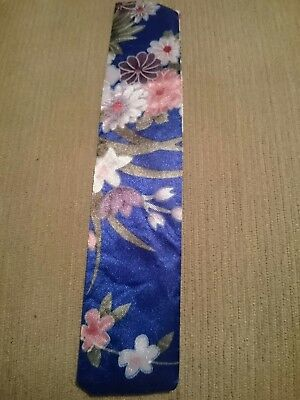 *free P&p* Pretty Blue Flowery, Chinese Silk Cover For Foldable, Hand Held Fan