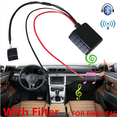 Car Bluetooth Module Audio Cable Adapter With Filter For BMW E39 E46 E53 3 Serie