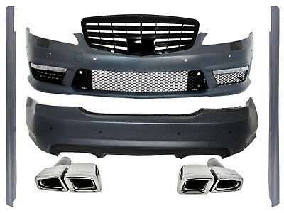 Mercedes W221 AMG Body Kit 05-11 Bumper Grille Exhaust Muffler Tips Tail Pipes