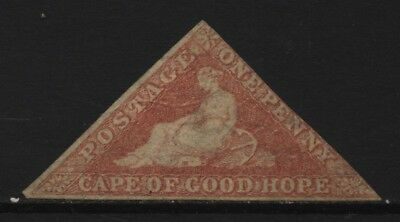 Cape of Good Hope 1d Red Imperf Triangle Unused