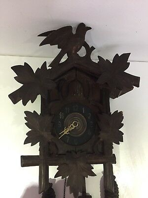 Antique Vintage German Cuckoo Clock Black Forest Parts Restoration Project