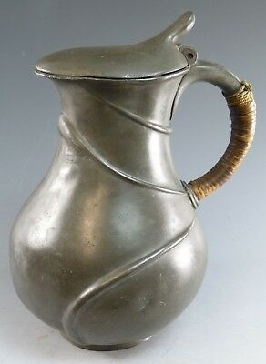 TUDRIC Pewter Liberty & Co - Early & Rare Hot Water Pot - Des 052 Archibald Knox