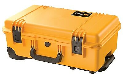 GENUINE Peli Storm iM2500 Airline Carry On Case YELLOW No Foam