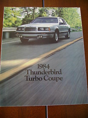 1984 Ford Thunderbird Turbo Coupe Dealer Sales Brochure