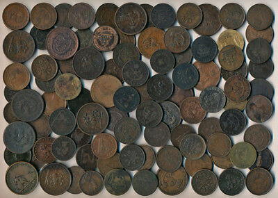 96 Early Canada Copper Coins & Tokens (Numerous Collectibles Must See) No Rsrv