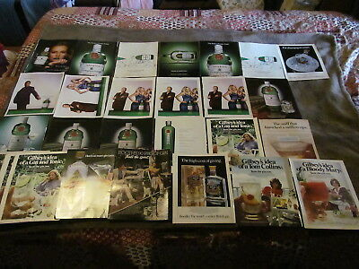 28 Fabulous Vintage Assorted Tanqueray & Gin Magazine Ads 1980's And Up - LOOK!