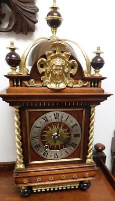 large french mahogany & brass striking bracket clock