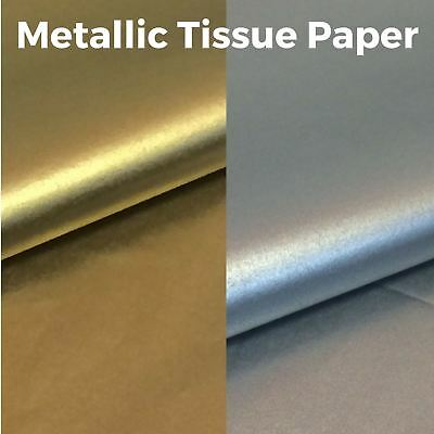 Metallic Tissue Paper - High Quality & Acid Free - 500mm x 750mm - Gold & Silver