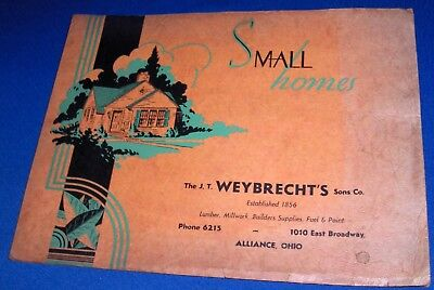Small Homes Catalog 1920s House Floor Plans Architecture Weybrecht Alliance Ohio