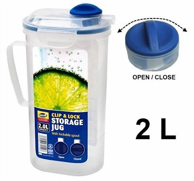 Buy 3 Get 1 Free 2L Juice Drink Water Jug Clip & Lock Lid With Valve Kitchen