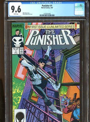 Punisher #1 Cgc Graded 9.6 White Pages 1987 #1275531043
