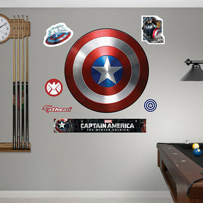 Fathead Captain America Vibranium Shield Winter Soldier Marvel Comics Wall Decor