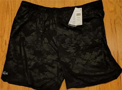 2b2cf1321ea9 Mens Authentic Lacoste Sport Water Repellent Athletic Shorts Black 8 3XL  80