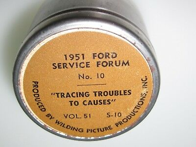 1951 Ford Film Strip Tracing Troubles To Causes with Original Container