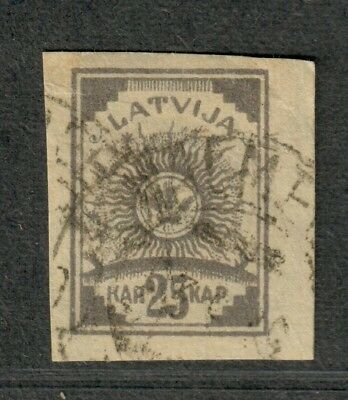 Latvia Sc#13A Used/VF, Cv. $40