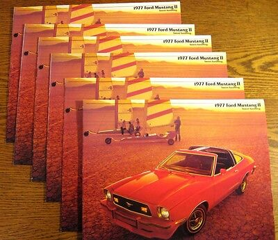 1977 FORD MUSTANG II DEALER SALES BROCHURE LOT (6)  COBRA Ghia MINT