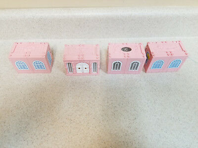 Mattel Polly Pockets Deluxe Mansion, Four Stackable Rooms, Nice shape!