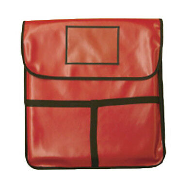 "Thunder Group PLPB020 20""x20""x5"" Red Leatheroid PVC Insulated Pizza Delivery Bag"