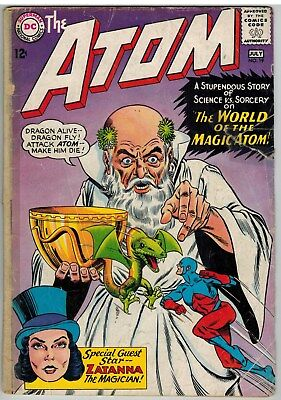 The Atom #19 1965 2Nd Appearance Zatanna Dc Silver Age!