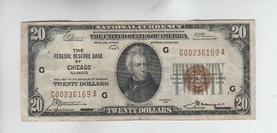 Federal Reserve Note FRBN $20 1929 fine