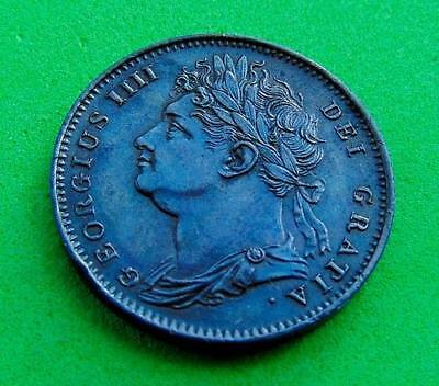 STUNNING  UNC  GEORGE  IV  * 1822 *  FARTHING  1/4d.....LUCIDO_8  COINS